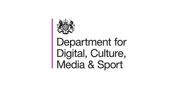 Logo for Department for Digital, Culture, Media & Sport